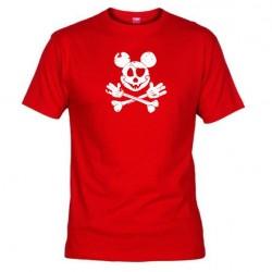 Pánské tričko Mickey mouse červené