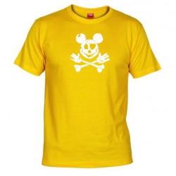 Pánské tričko Mickey mouse žluté