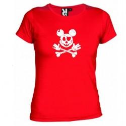 Dámské tričko Mickey mouse červené