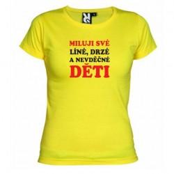 Dámské tričko Miluji své děti žluté