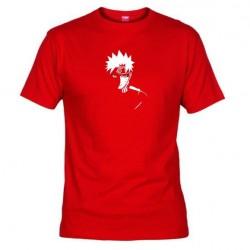 Pánské tričko Naruto Uzumaki sage mod červené