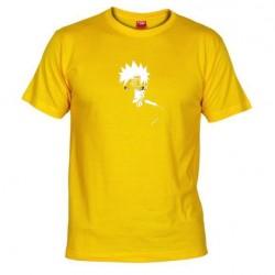 Pánské tričko Naruto Uzumaki sage mod žluté