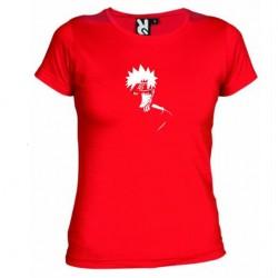 Dámské tričko Naruto Uzumaki sage mod červené
