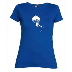 Dámské tričko Naruto Uzumaki sage mod modré