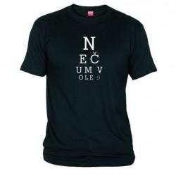 Pánské tričko Nečum vole černé