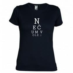 Dámské tričko Nečum vole černé