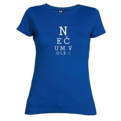 Dámské tričko Nečum vole modré