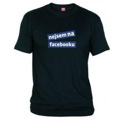 Pánské tričko Nejsem na facebooku černé
