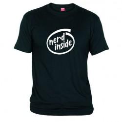 Pánské tričko Nerd inside černé