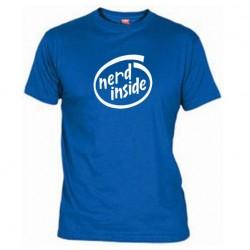 Pánské tričko Nerd inside modré