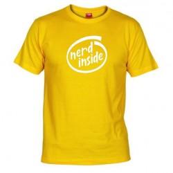 Pánské tričko Nerd inside žluté