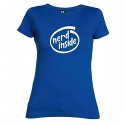 Dámské tričko Nerd inside modré
