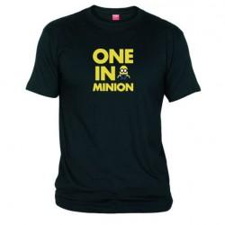 Pánské tričko One in minion černé