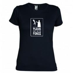 Dámské tričko Please don´t use the force černé
