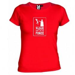 Dámské tričko Please don´t use the force červené