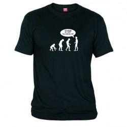 Pánské tričko Stop following me! černé