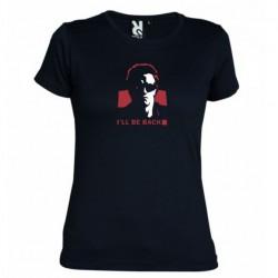 Dámské tričko Terminator I will be back černé