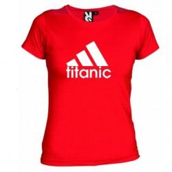 Dámské tričko Titanic červené