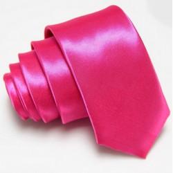 Úzká SLIM kravata růžová