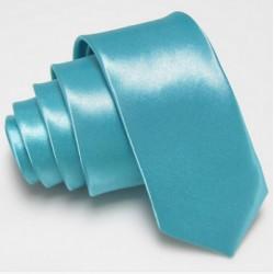 Úzká SLIM kravata světle modrá tyrkysová