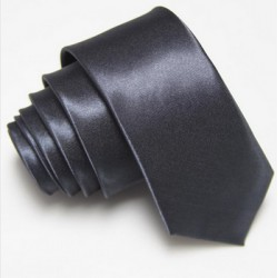 Úzká SLIM kravata tmavě šedá
