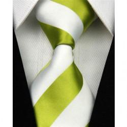 Hedvábná kravata zelená NT0089