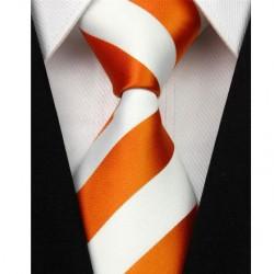 Hedvábná kravata oranžová NT0102
