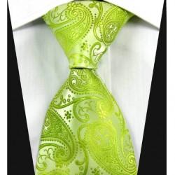 Hedvábná kravata zelená NT0344
