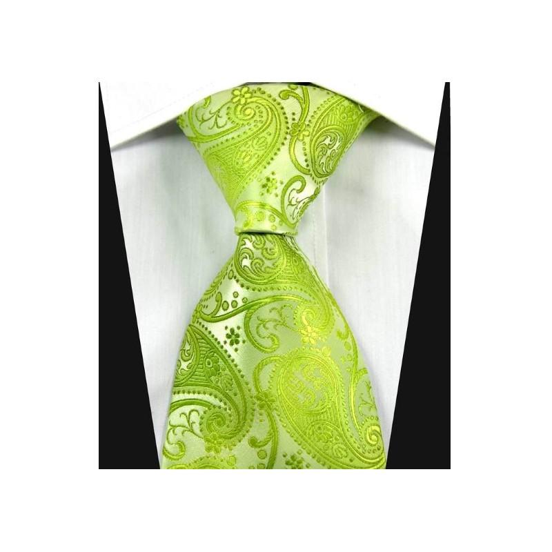 7824f676cb5 Hedvábná kravata zelená NT0344