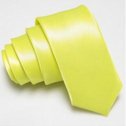 Úzká SLIM kravata zeleno žlutá