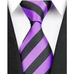 Hedvábná kravata fialová NT0058