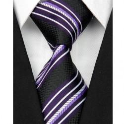 Hedvábná kravata černá NT0088