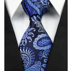 Hedvábná kravata modrá kašmírová NT0258