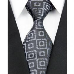Hedvábná kravata černá NT0114