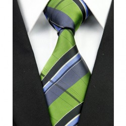 Hedvábná kravata zelená NT0232