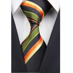 Hedvábná kravata zelená NT0028