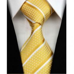 Hedvábná kravata žlutá NT0165