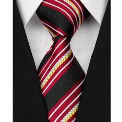 Hedvábná kravata černá NT0078