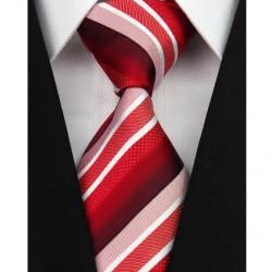 Hedvábná kravata červená NT0136