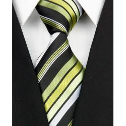 Hedvábná kravata zelená NT0137