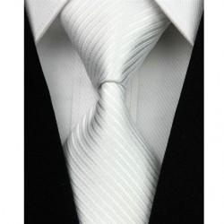 Hedvábná kravata bílá NT0019