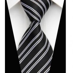 Hedvábná kravata černá NT0504