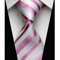 Hedvábná kravata růžová NT0512