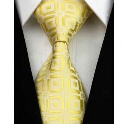 Hedvábná kravata žlutá NT0039