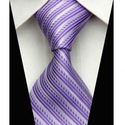Hedvábná kravata fialová NT0518
