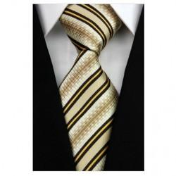 Hedvábná kravata žlutá NT0177