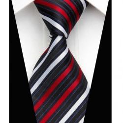 Hedvábná kravata černá NT0477