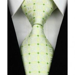 Hedvábná kravata zelená NT0158