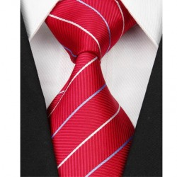Hedvábná kravata červená NT0073