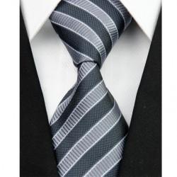 Hedvábná kravata černá NT0049